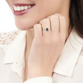 Bague Teresa Or Blanc Topaze Et Diamant - Bagues avec pierre Femme | Histoire d'Or