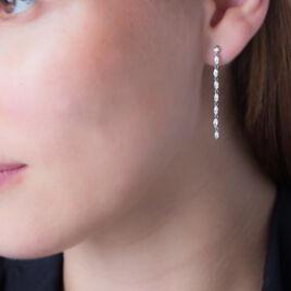 Boucles D'oreilles Pendantes Gaelle Argent Blanc Oxyde De Zirconium - Boucles d'oreilles fantaisie Femme | Histoire d'Or