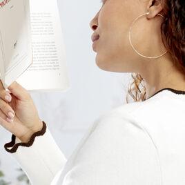 Créoles Anusha Plaque Or Jaune - Boucles d'oreilles créoles Femme   Histoire d'Or