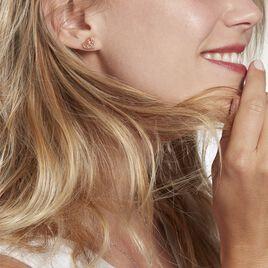 Boucles D'oreilles Pendantes Elwenn Argent Rose - Boucles d'Oreilles Arbre de vie Femme   Histoire d'Or