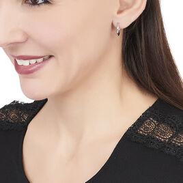 Créoles Verania Lisses Fil Rond Or Blanc - Boucles d'oreilles créoles Femme   Histoire d'Or