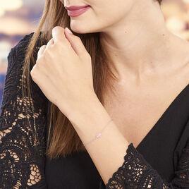 Bracelet Evren Argent Blanc Pierre De Synthese - Bracelets fantaisie Femme   Histoire d'Or