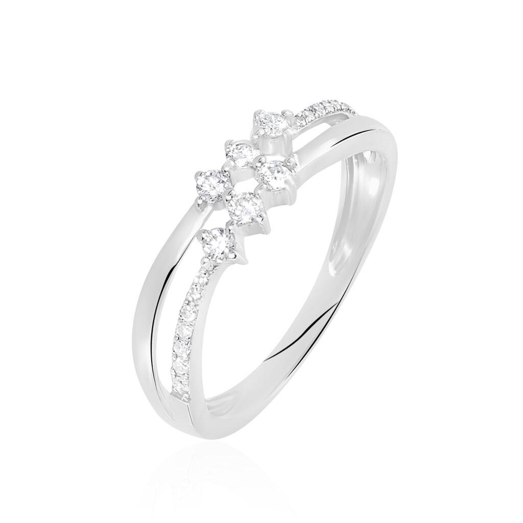 Bague Or Blanc Diamant - Bagues avec pierre Femme | Histoire d'Or