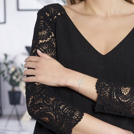 Bracelet Cordelia Argent Blanc - Bracelets fantaisie Femme | Histoire d'Or