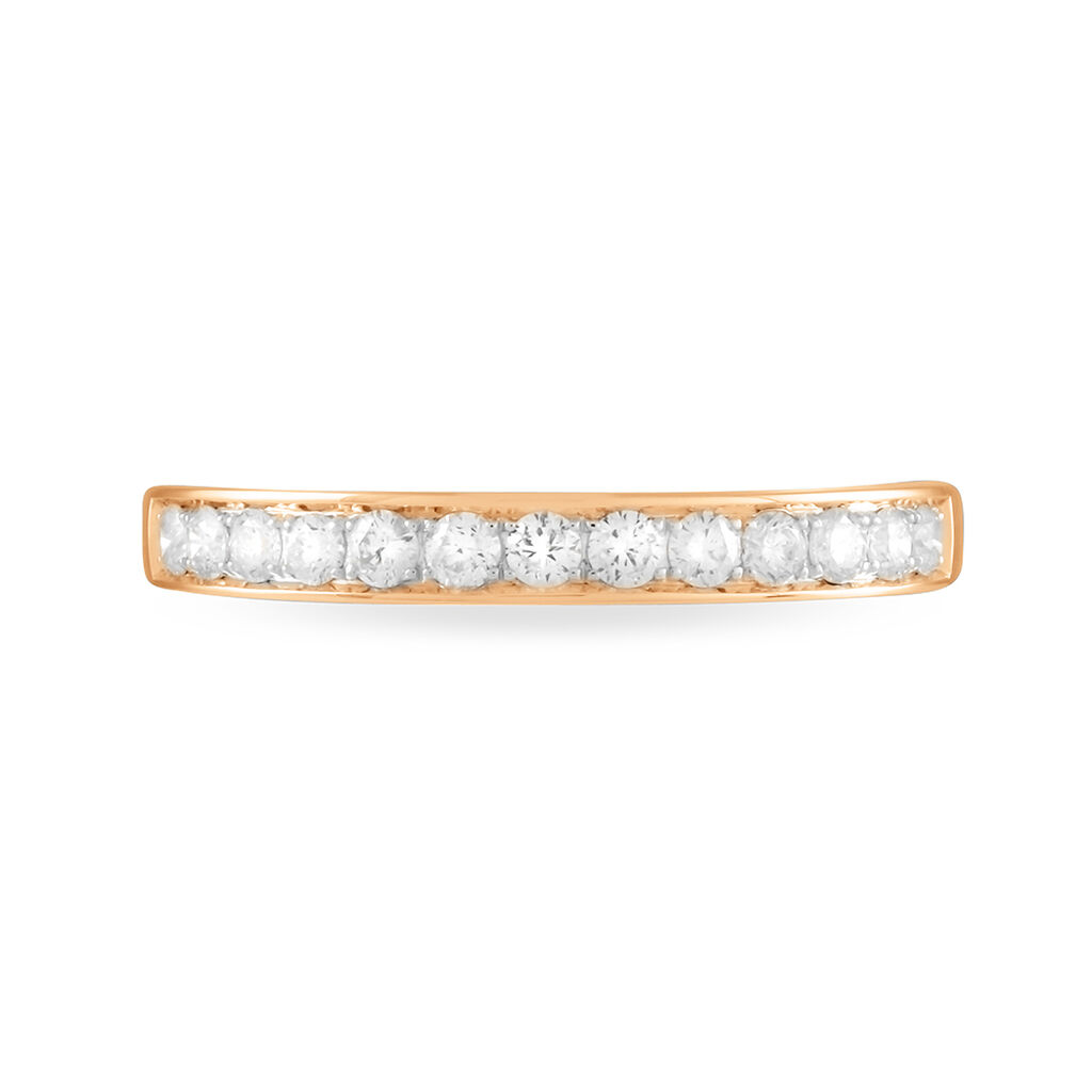 Alliance Juliette Or Rose Diamant - Alliances Femme | Histoire d'Or