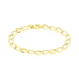 Bracelet Joice Maille Alternee Lisse Et Godronne Or Jaune - Bijoux Femme | Histoire d'Or