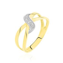 Bague Ramona Or Jaune Diamant - Bagues avec pierre Femme   Histoire d'Or