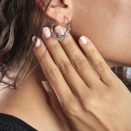Créoles Andeol Rondes Argent Blanc Oxyde De Zirconium - Boucles d'oreilles créoles Femme | Histoire d'Or