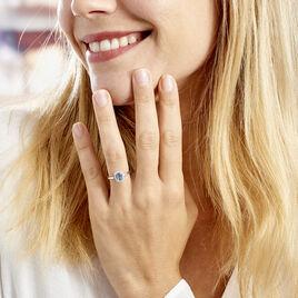Bague Solitaire Aladin Argent Blanc Oxyde De Zirconium - Bagues avec pierre Femme | Histoire d'Or