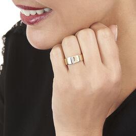 Bague Soha Or Jaune Diamant - Bagues avec pierre Femme   Histoire d'Or
