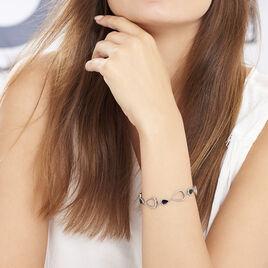 Bracelet Evhan Acier Blanc - Bracelets fantaisie Femme   Histoire d'Or
