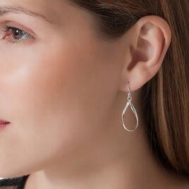 Boucles D'oreilles Pendantes Twista Argent Blanc - Boucles d'oreilles fantaisie Femme | Histoire d'Or