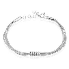 Bracelet Amaryllis Argent Blanc - Bracelets fantaisie Femme   Histoire d'Or