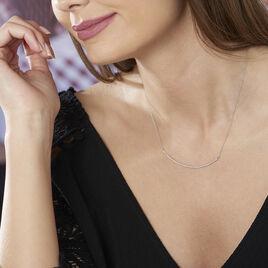 Collier Fanchette Or Blanc Diamant - Bijoux Femme   Histoire d'Or