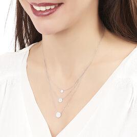 Collier Or Blanc Rita Oxydes - Colliers double et triple chaines Femme   Histoire d'Or