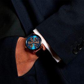 Montre Montignac S Automatique Bleu - Montres Homme | Histoire d'Or