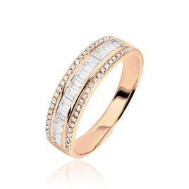 Bague Eugenie Or Rose Diamant - Bagues avec pierre Femme | Histoire d'Or