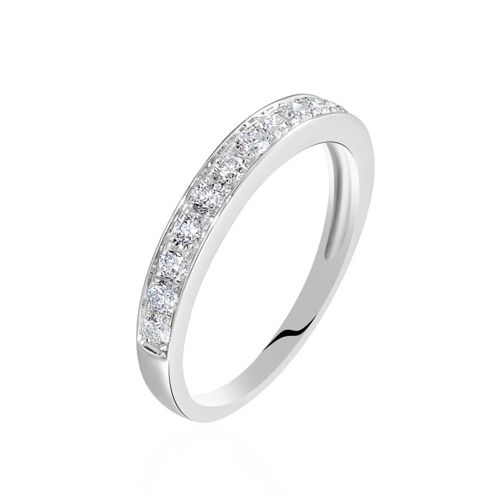 Alliance Valentine Or Blanc Diamant Synthetique