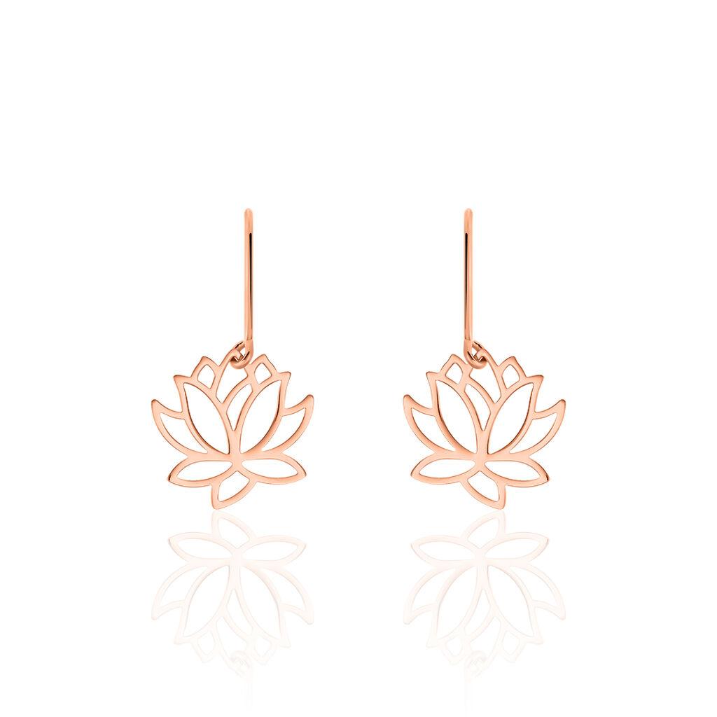 Boucles D'oreilles Pendantes Rosita Argent Rose - Boucles d'oreilles fantaisie Femme   Histoire d'Or