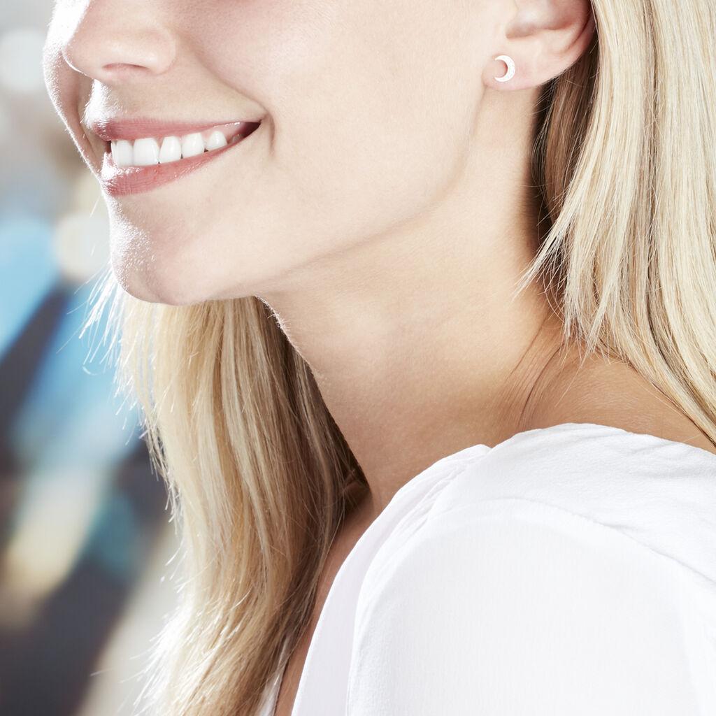 Boucles D'oreilles Pendantes Francoise-marie Lune Or Jaune Oxyde - Boucles d'Oreilles Lune Femme   Histoire d'Or