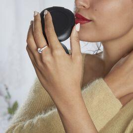 Bague Solitaire Alisia Or Rose Oxyde De Zirconium - Bagues solitaires Femme   Histoire d'Or