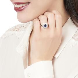Bague Ivan Or Blanc Saphir Et Diamant - Bagues solitaires Femme | Histoire d'Or