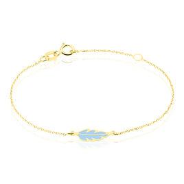 Bracelet Marion Plume Or Jaune - Bracelets Naissance Enfant | Histoire d'Or