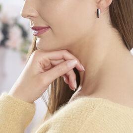 Boucles D'oreilles Pendantes Elianna Argent Blanc Oxyde De Zirconium - Boucles d'oreilles fantaisie Femme   Histoire d'Or