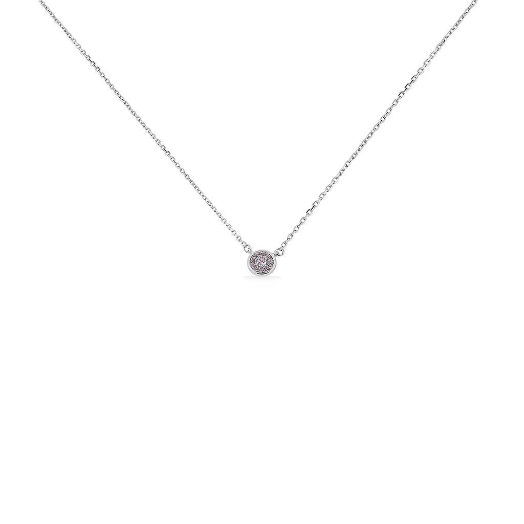 Collier Auxana Argent Blanc Oxyde De Zirconium - Colliers fantaisie Femme | Histoire d'Or