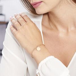 Bracelet Jonc Tam Argent Rose - Bracelets cordon Femme | Histoire d'Or