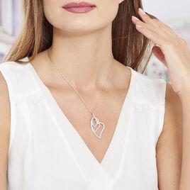 Collier Sinnila Argent Blanc - Colliers Coeur Femme | Histoire d'Or