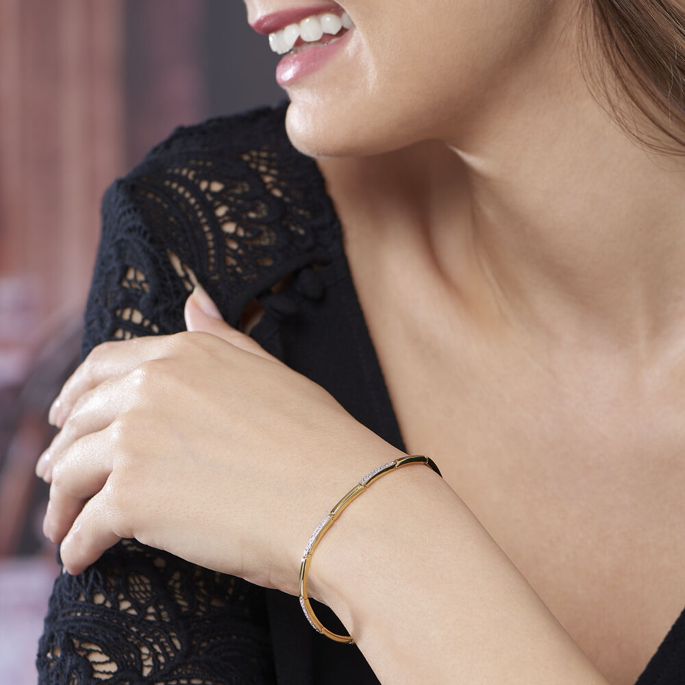 Bracelet Chelsee Plaque Or Jaune Oxyde De Zirconium