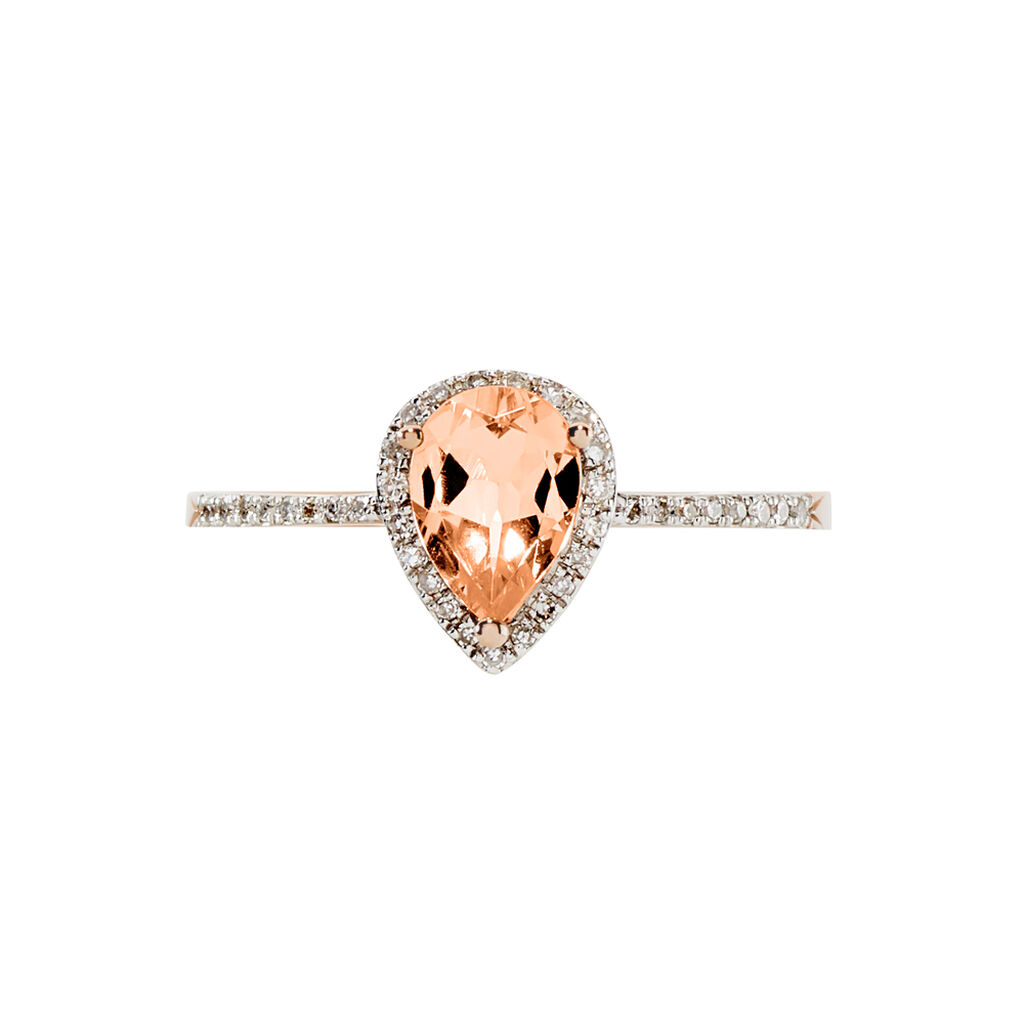 Bague Alice Or Rose Morganite Et Diamant