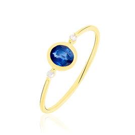 Bague Jahyna Or Jaune Saphir Et Diamant - Bagues avec pierre Femme | Histoire d'Or