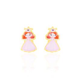 Boucles D'oreilles Puces Fantasila Princesse Or Jaune - Clous d'oreilles Enfant | Histoire d'Or