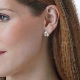 Boucles D'oreilles Puces Enora Or Jaune Diamant - Clous d'oreilles Femme | Histoire d'Or