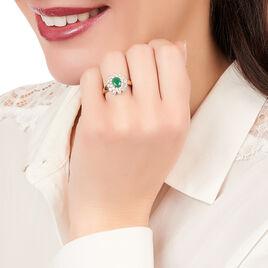 Bague Ivan Or Jaune Emeraude Et Diamant - Bagues avec pierre Femme   Histoire d'Or