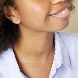Boucles D'oreilles Puces Fatiana Or Blanc Diamant - Clous d'oreilles Femme   Histoire d'Or