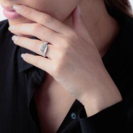 Bague Codou Argent Blanc Oxyde De Zirconium - Bagues avec pierre Femme | Histoire d'Or