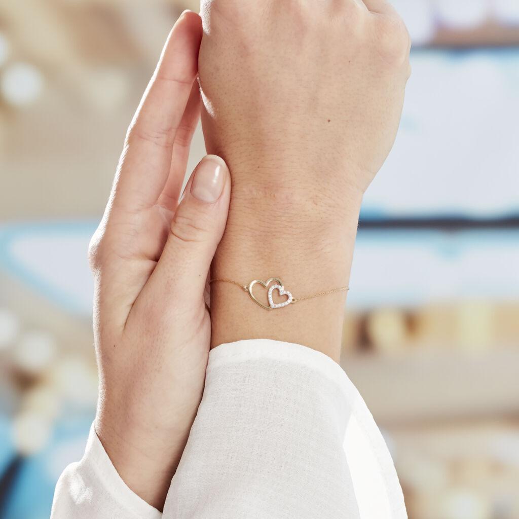 Bracelet Marineta Or Jaune Oxyde De Zirconium - Bracelets Coeur Femme   Histoire d'Or