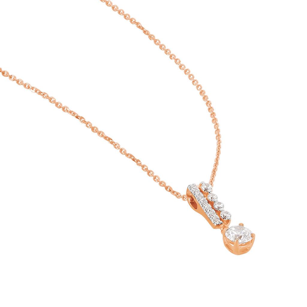 Collier Alie Or Rose Oxyde De Zirconium - Bijoux Femme | Histoire d'Or