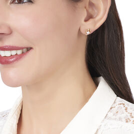 Boucles D'oreilles Pendantes Anamari Plaque Or Oxyde De Zirconium - Boucles d'Oreilles Coeur Femme | Histoire d'Or