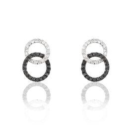 Boucles D'oreilles Puces Bella Or Blanc Diamant - Clous d'oreilles Femme | Histoire d'Or