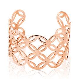 Bracelet Jonc Danyl Acier Rose - Bracelets fantaisie Femme   Histoire d'Or
