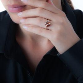 Bague Argent Ambre Rond - Bagues avec pierre Femme | Histoire d'Or