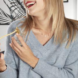 Collier Plaqué Or Jaune Libby - Colliers Plume Femme   Histoire d'Or