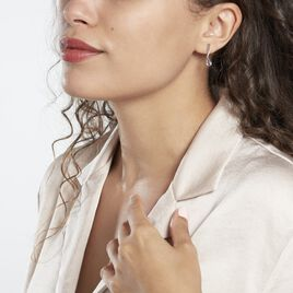 Boucles D'oreilles Pendantes Assaf Or Blanc Amethyste Et Oxyde - Boucles d'oreilles pendantes Femme | Histoire d'Or