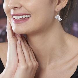 Boucles D'oreilles Pendantes Fanila Argent Blanc - Boucles d'oreilles fantaisie Femme   Histoire d'Or