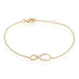 Bracelet Suzann Plaque Or Jaune Oxyde De Zirconium - Bracelets Infini Femme | Histoire d'Or