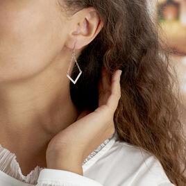 Boucles D'oreilles Argent Blanc  Lakia - Boucles d'oreilles fantaisie Femme | Histoire d'Or